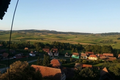 View on the village from the Bell Tower of the Fortified Church