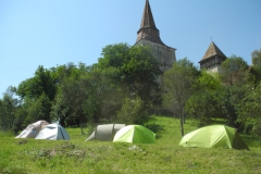 Camping in the Parish Garden